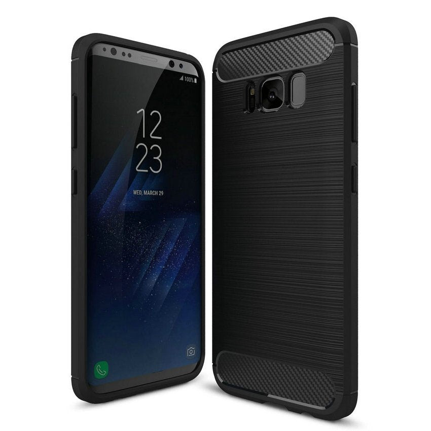 Galaxy S8 Plus Brushed Carbon Fiber Design Case - Happiness Idea
