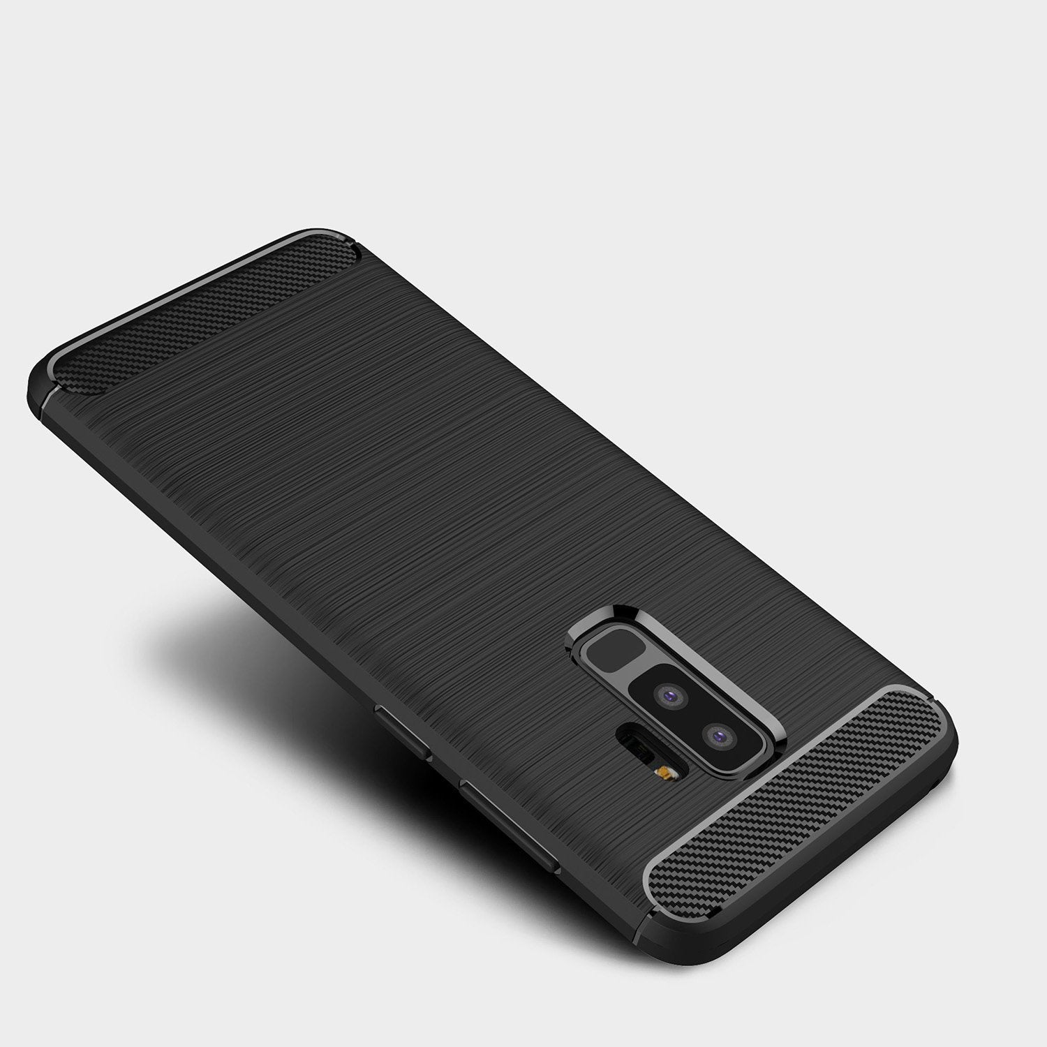 Galaxy S9 Plus Brushed Carbon Fiber Design Case - Happiness Idea