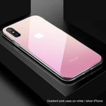 Load image into Gallery viewer, Gradient Glass Case (For white / silver colour iPhone only) - Happiness Idea