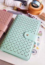Load image into Gallery viewer, Hollow Faux Leather A6 Planner - Happiness Idea