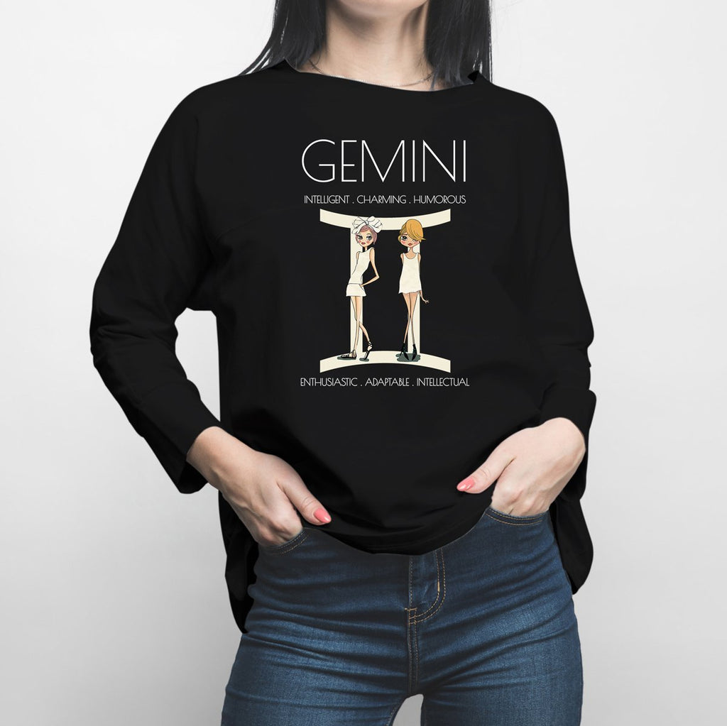 Horoscope Gemini Long Sleeve Shirt - Happiness Idea