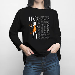 Horoscope Leo Long Sleeve Shirt - Happiness Idea