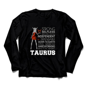 Horoscope Taurus Long Sleeve Shirt - Happiness Idea