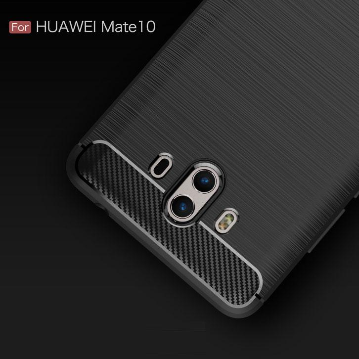 Huawei Mate 10 Brushed Carbon Fiber Design Case - Happiness Idea