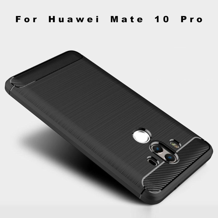 Huawei Mate 10 Pro Brushed Carbon Fiber Design Case - Happiness Idea