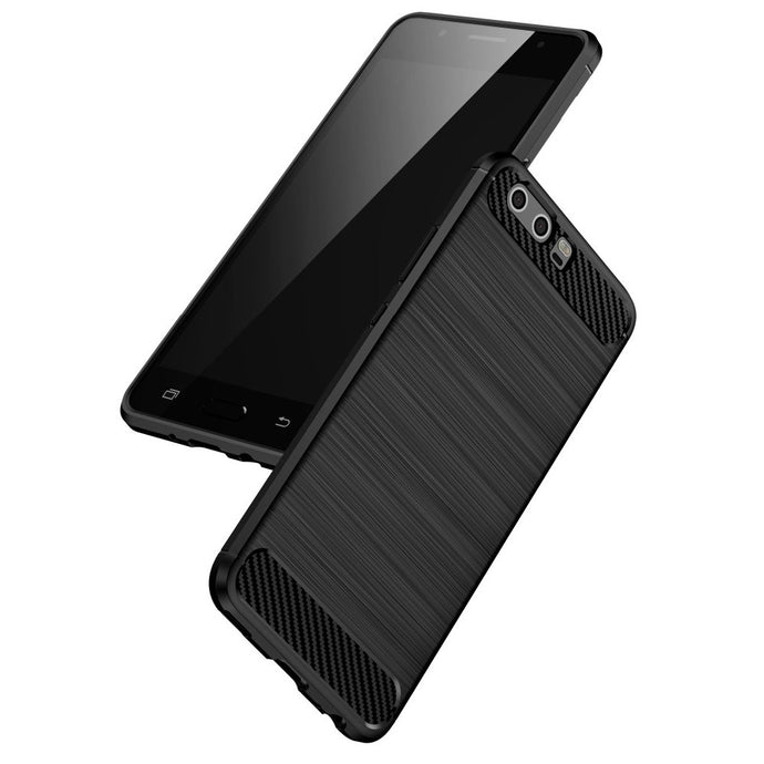 Huawei P10 Brushed Carbon Fiber Design Case - Happiness Idea