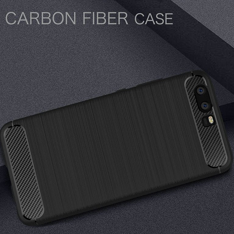 Huawei P10 Plus Brushed Carbon Fiber Design Case - Happiness Idea
