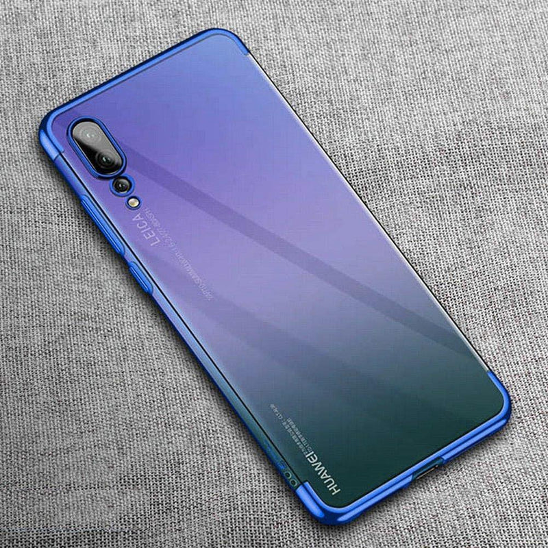Huawei P20 Pro Chrome Plated TPU Soft Clear Case - Happiness Idea
