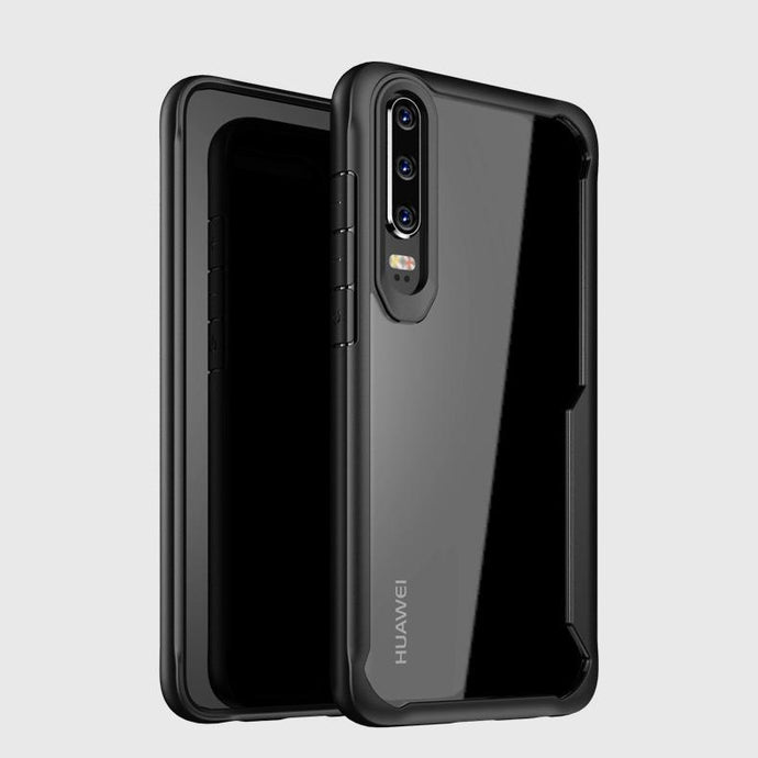 Huawei P30 Transparent Bumper Case - Happiness Idea