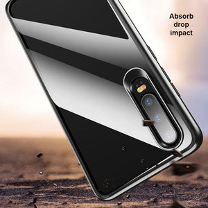 Huawei P30 Transparent Hybrid Case - Happiness Idea