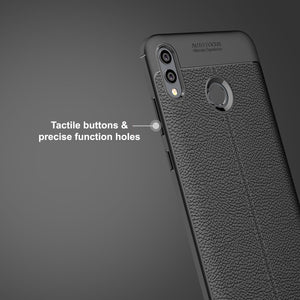 Huawei Y Max Leather Design TPU Case - Happiness Idea