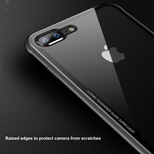 iPhone 8 Crystal Clear Glass Case - Happiness Idea
