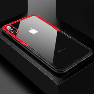 iPhone X / XS Crystal Clear Glass Case - Happiness Idea