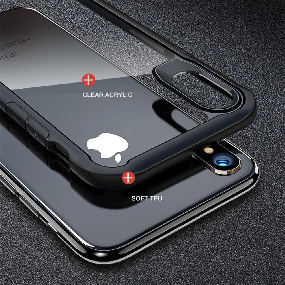 iPhone X / XS Transparent Bumper Case - Happiness Idea