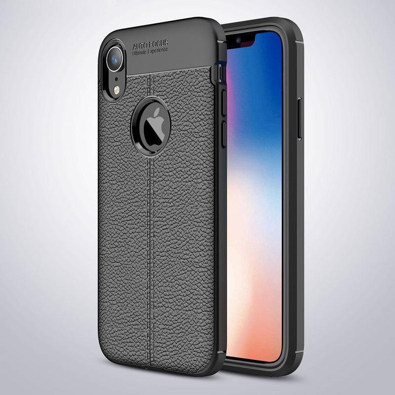 iPhone XR Leather Design TPU Case - Happiness Idea