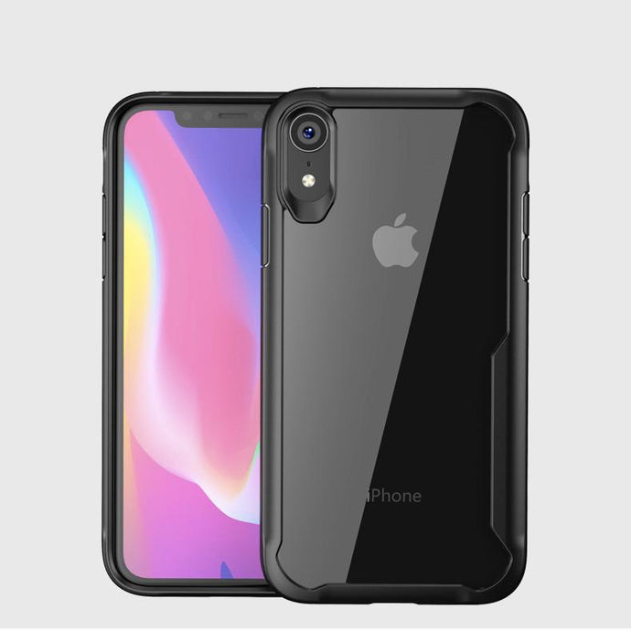 iPhone XR Transparent Bumper Case - Happiness Idea