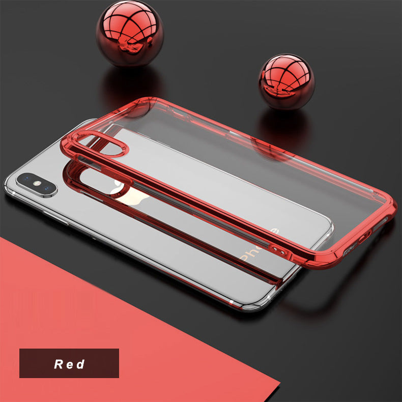 LEEU Design Chrome Plated Soft Clear Case for iPhone XS Max