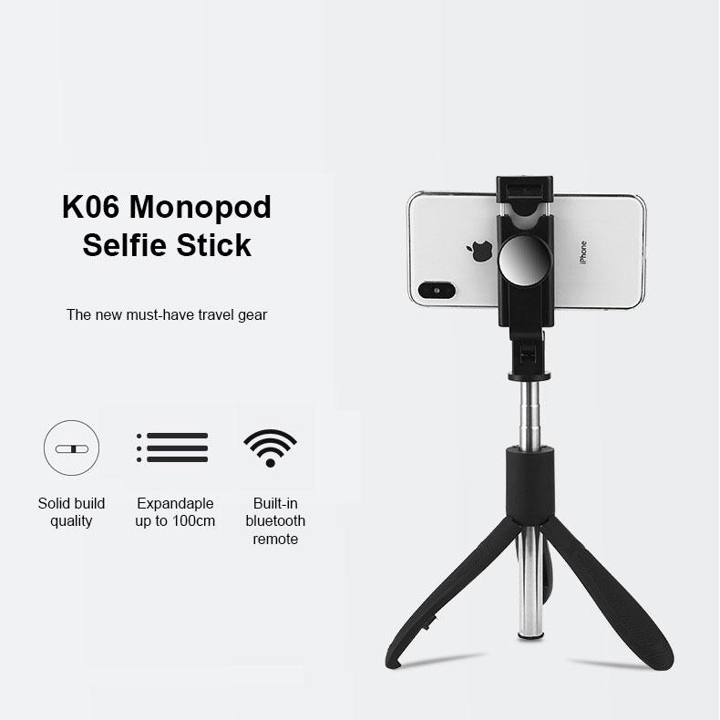 K06 Bluetooth Selfie Stick / Tripod - Happiness Idea