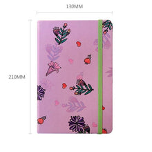 Load image into Gallery viewer, Kiddo Flowery A5 Notebook - Happiness Idea