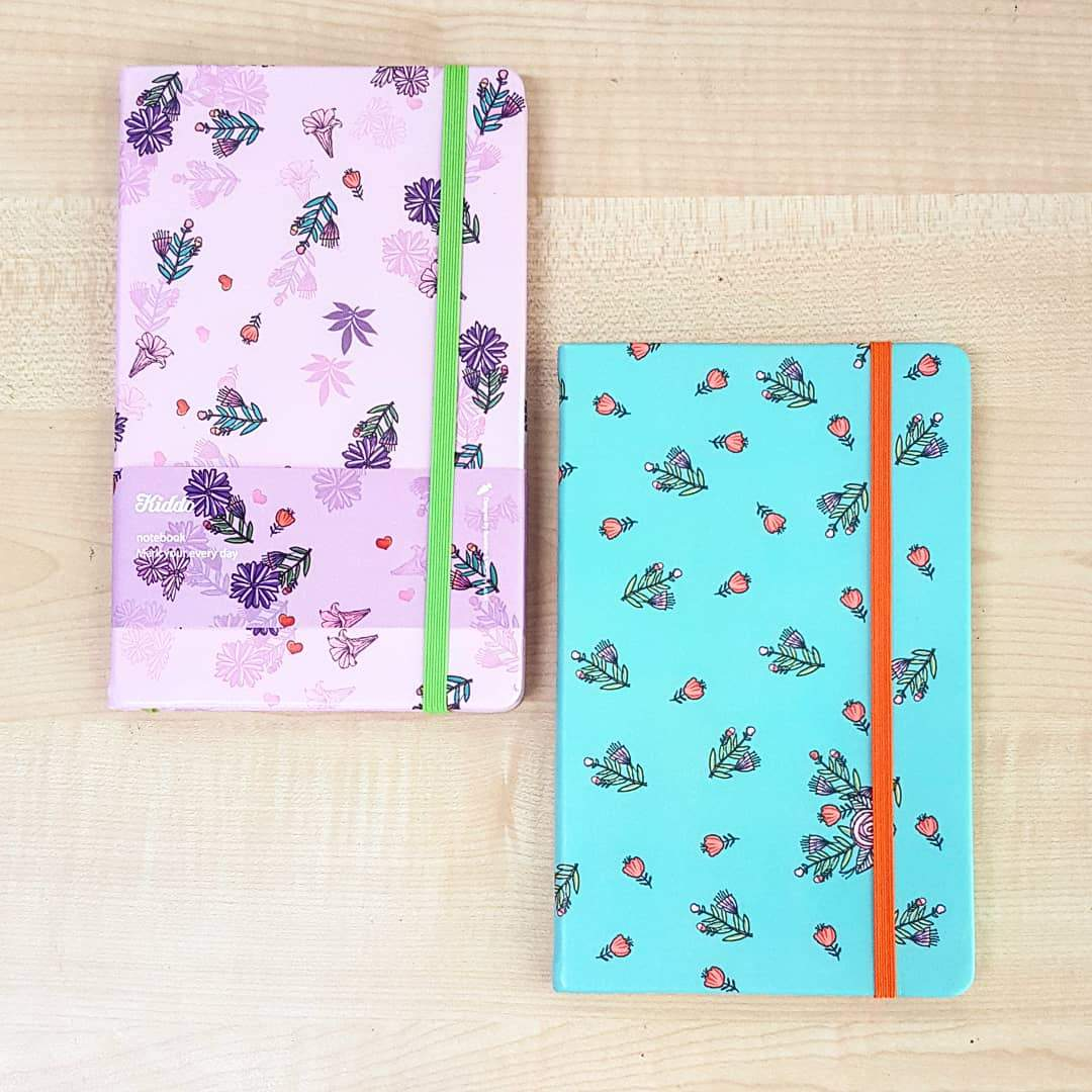 Kiddo Flowery A5 Notebook - Happiness Idea