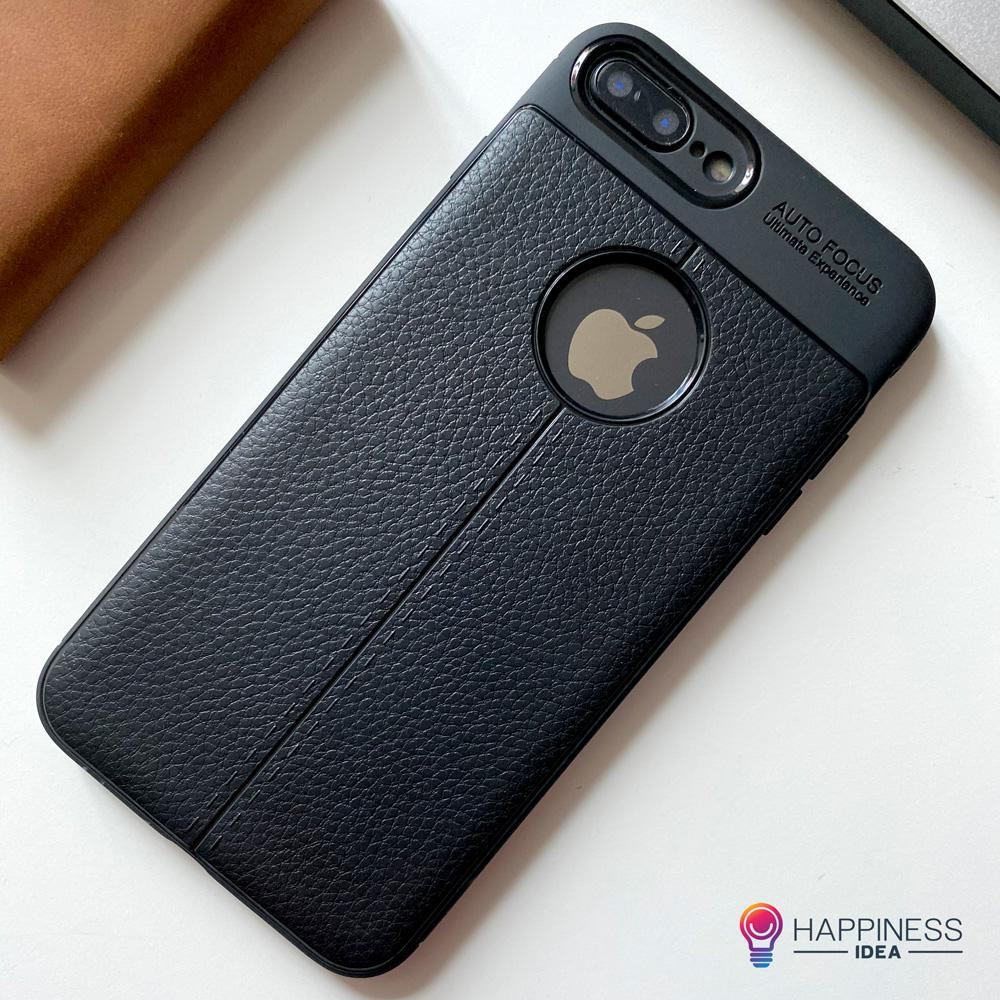 Leather Design TPU Case for iPhone