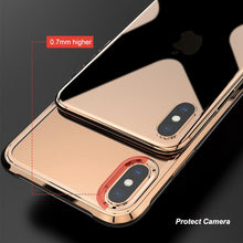 Load image into Gallery viewer, LEEU Design Chrome Plated Soft Clear Case for iPhone XS Max - Happiness Idea