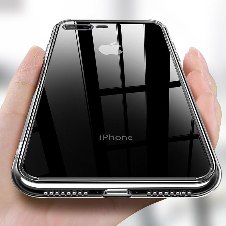 Lucid Clear Glass Case for iPhone - Happiness Idea