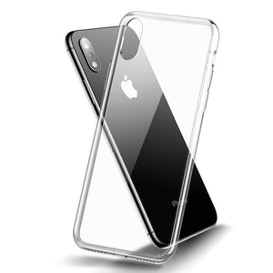 Lucid Clear Glass Case for iPhone XS / XS Max - Happiness Idea
