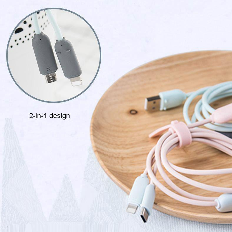 Maoxin 2-in-1 Charging / Data Transmission Cable - Happiness Idea