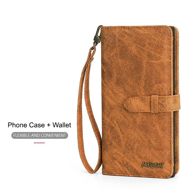 Megshi Detachable Wallet Case for iPhone - Happiness Idea
