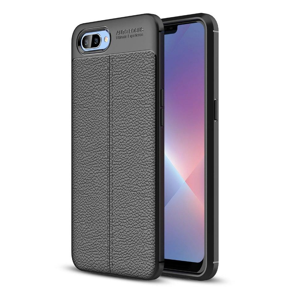 Oppo A3s Leather Design TPU Case - Happiness Idea