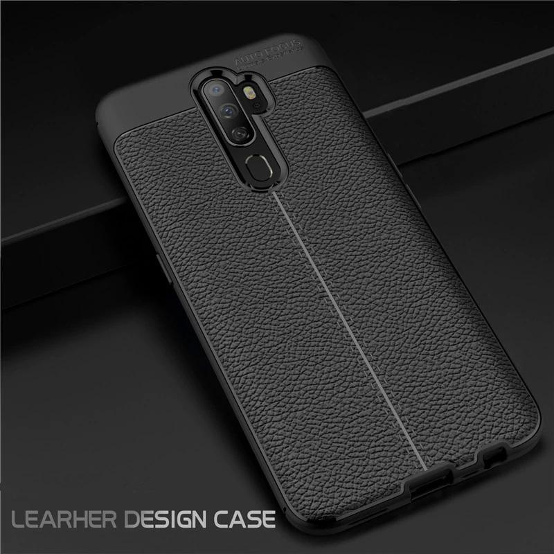 Oppo A5 / A9 (2020) Leather Design TPU Case - Happiness Idea
