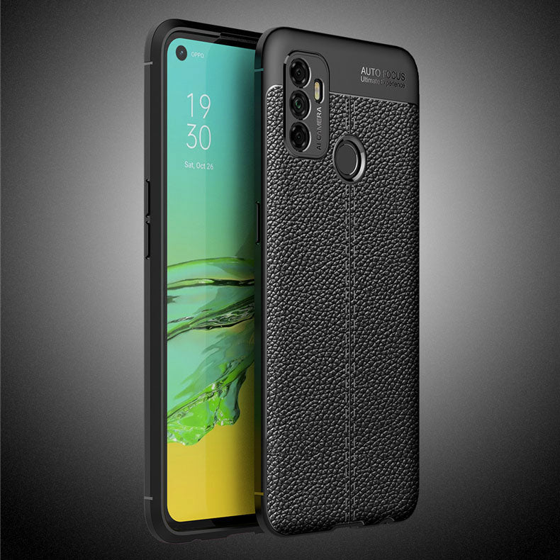Oppo A53 Leather Design TPU Case