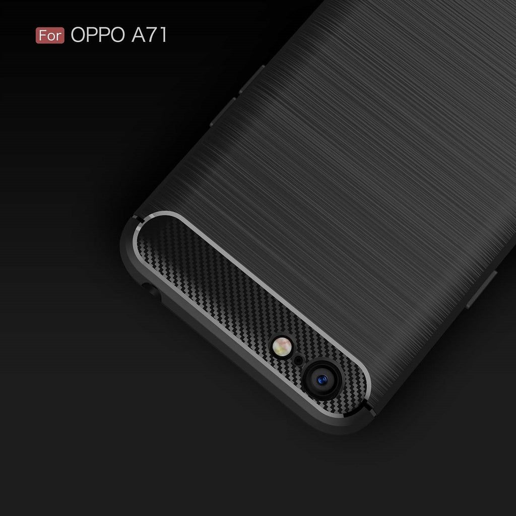 Oppo A71 Brushed Carbon Fiber Design Case - Happiness Idea