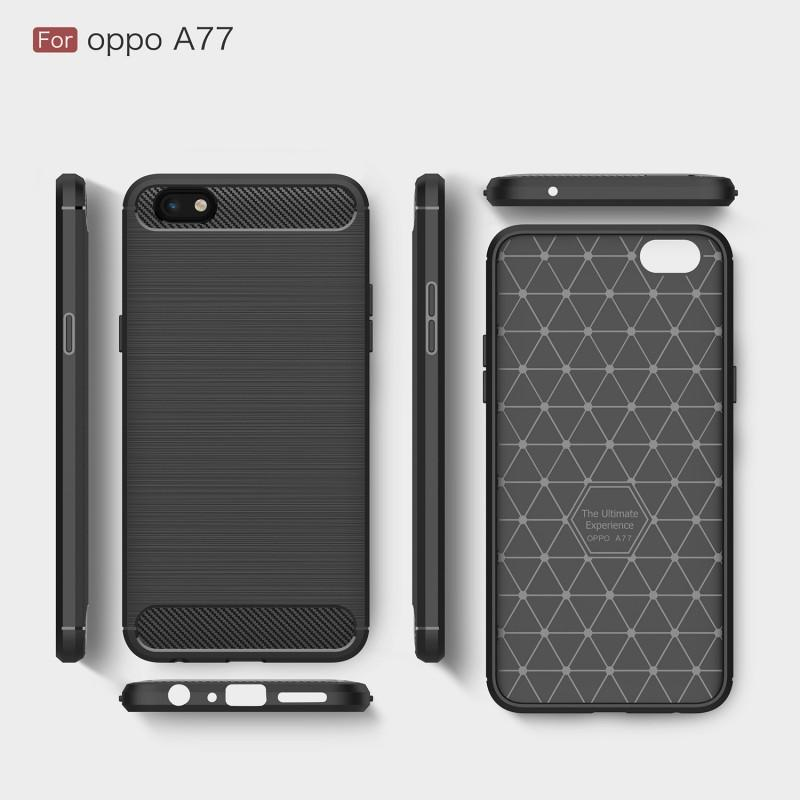 Oppo A77 Brushed Carbon Fiber Design Case - Happiness Idea
