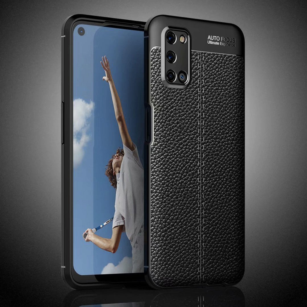 Oppo A92 Leather Design TPU Case - Happiness Idea