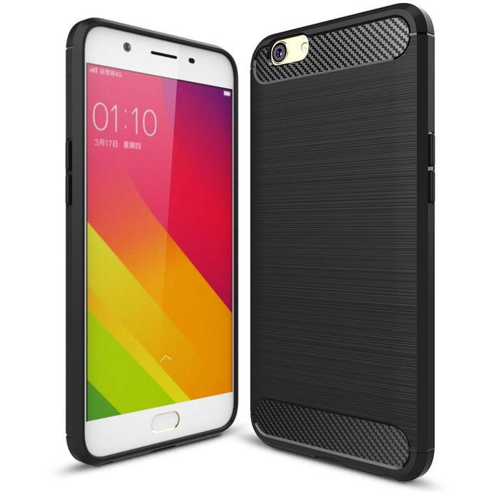 Oppo F1s Brushed Carbon Fiber Design Silicone Case - Happiness Idea