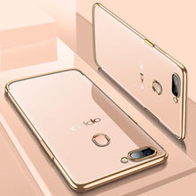 Load image into Gallery viewer, Oppo F5 Chrome Plated TPU Soft Clear Case - Happiness Idea