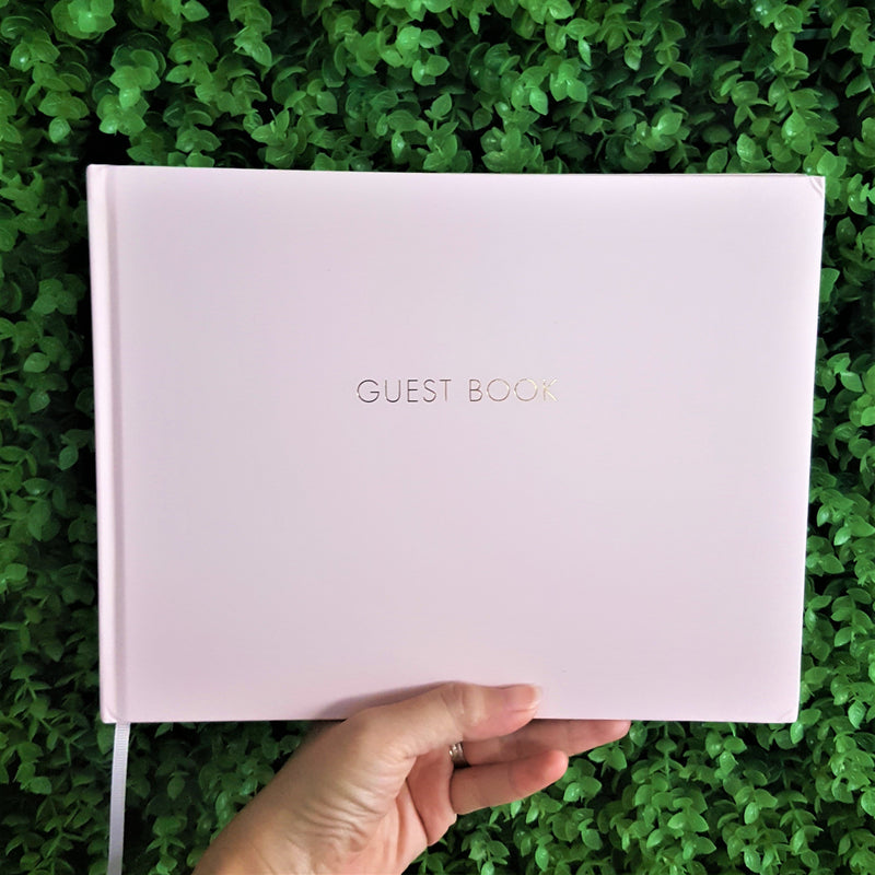 Pink Wedding Guest Book - Happiness Idea