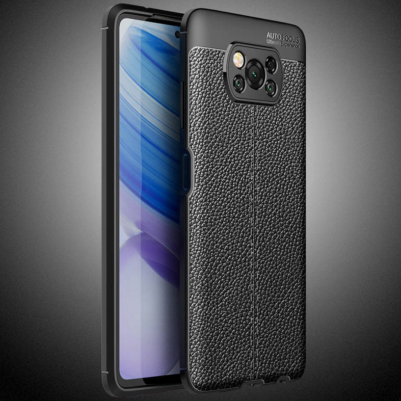 Xiaomi POCO X3 NFC Leather Design TPU Case