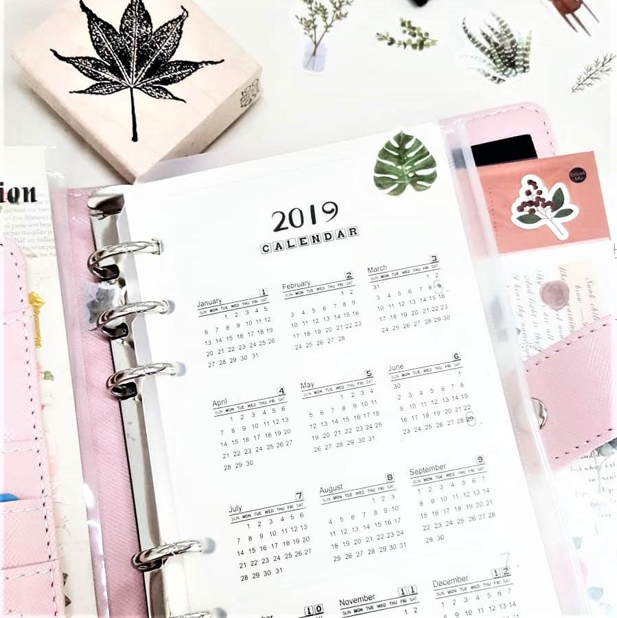 PVC Calendar 2019 - Happiness Idea