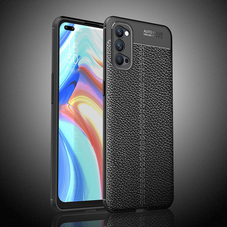 Oppo Reno 4 (5G) Leather Design TPU Case