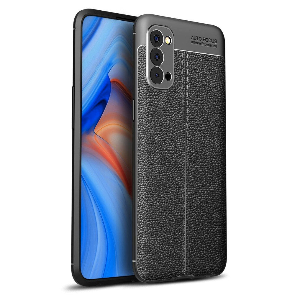 Oppo Reno 4 Leather Design TPU Case