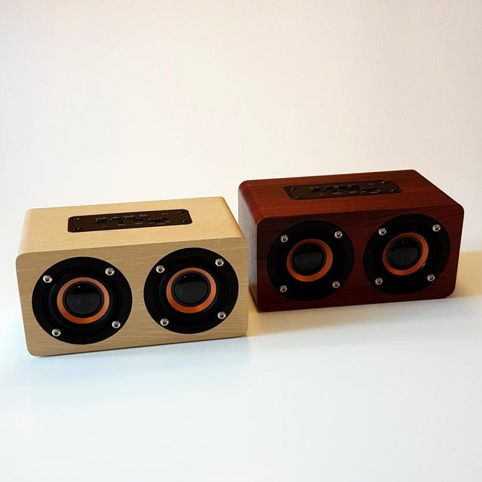 Retro Wooden Design Bluetooth Speaker - Happiness Idea