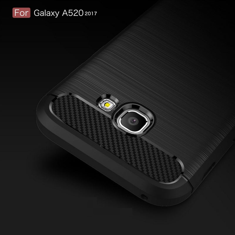 Samsung A5 (2017) Brushed Carbon Fiber Design Case - Happiness Idea