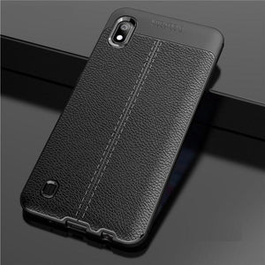 Samsung Galaxy A10 Leather Design TPU Case - Happiness Idea