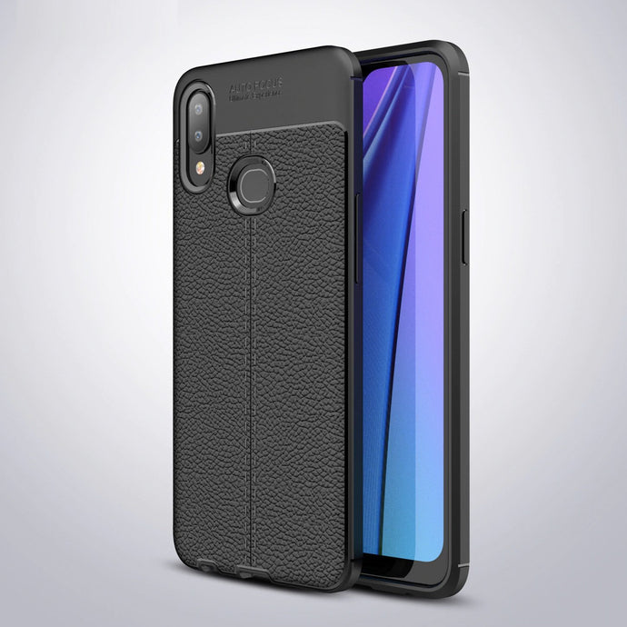 Samsung Galaxy A10s Leather Design TPU Case - Happiness Idea