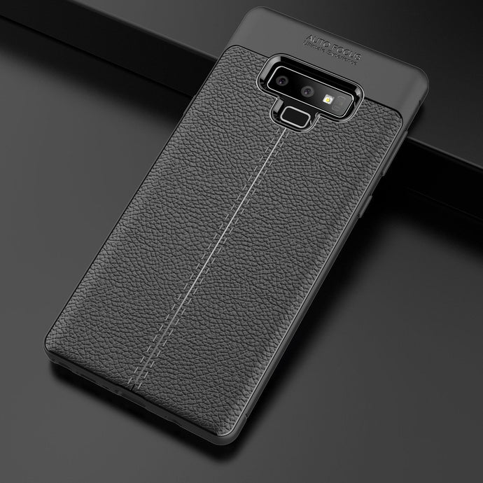 Samsung Galaxy Note 9 Leather Design TPU Case - Happiness Idea