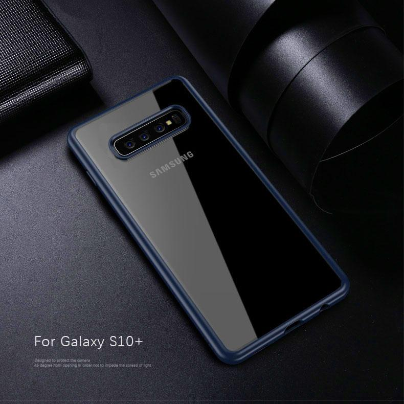 Samsung Galaxy S10 Plus Transparent Hybrid Case - Happiness Idea
