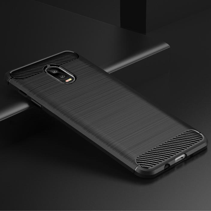 Samsung J7 Plus Brushed Carbon Fiber Design Case - Happiness Idea